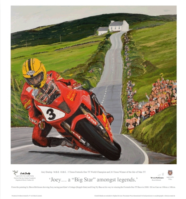 Limited edition Joey Dunlop print